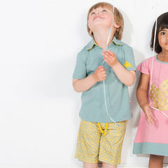 The aqua urchin polo shirt with sunstar shorts