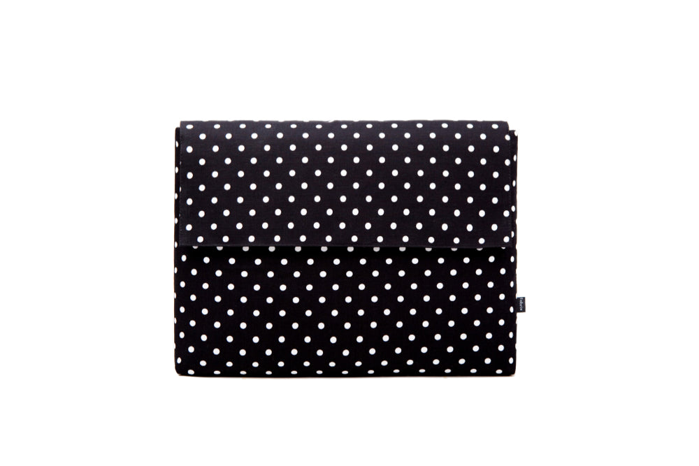 Deluxe Laptop Case - Polka Black