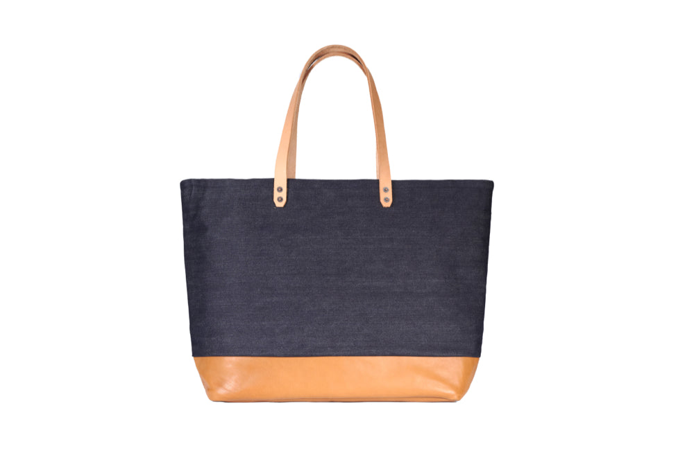 Denim Carryall - Leather