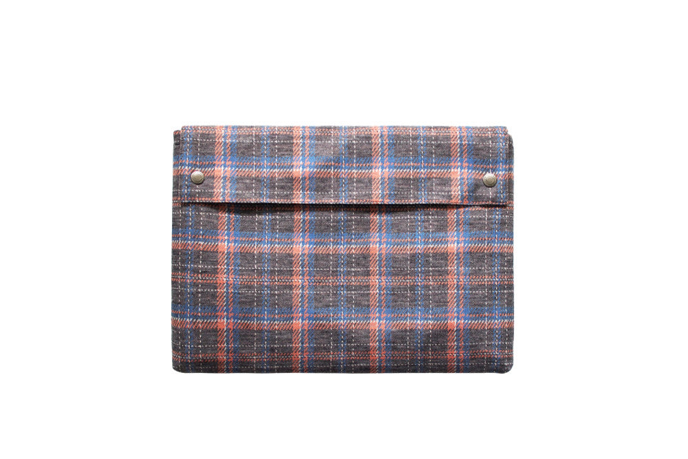 Folio Case - Grey Plaid
