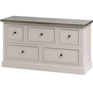 The Studley Collection 5 Drawer Low Chest
