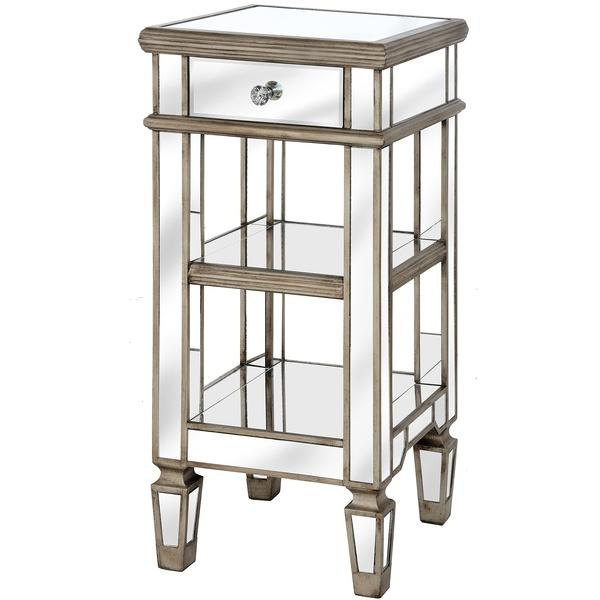 The Belfry Collection One Drawer Mirrored Cocktail Table