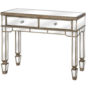 The Belfry Collection 2 Drawer Mirrored Console Table