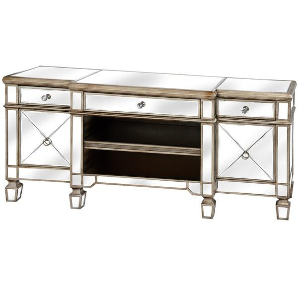 The Belfry Collection Mirrored Media Unit