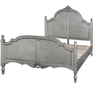 Estelle Colletion Silver Leaf King Size Bed