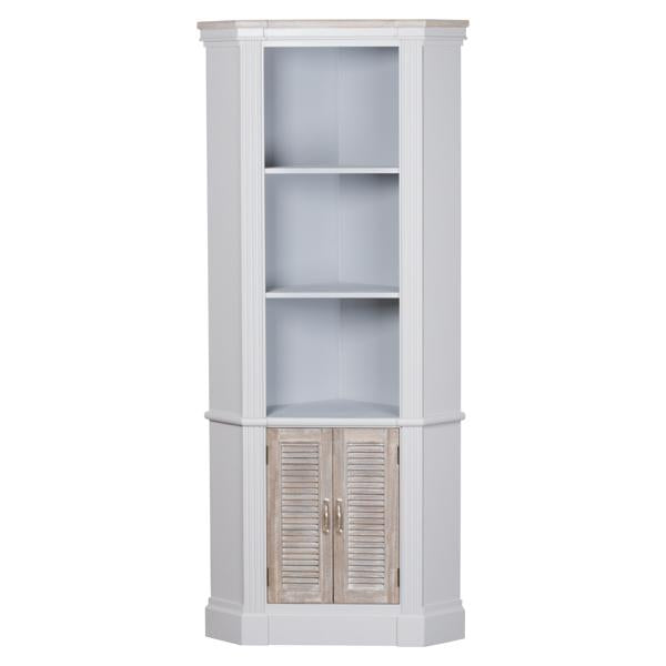 The Liberty Collection Corner Unit With Three Shelves
