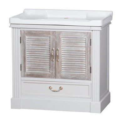 The Liberty Collection Vanity Sink Unit With Louvred Doors