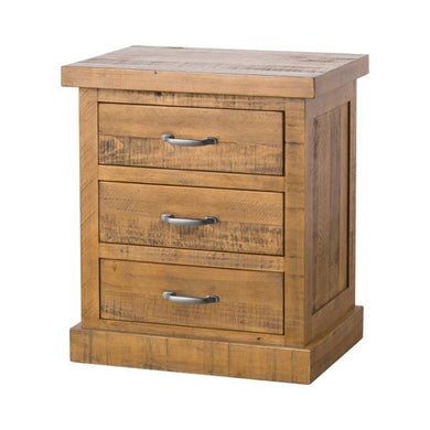 The Deanery Collection 3 Drawer Bedside