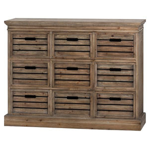 Brooklyn Distressed Pine Nine Drawer Chest