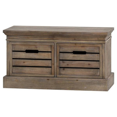 Brooklyn Distressed Pine Two Drawer Low Chest