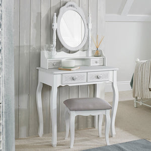 Brittany Dressing Table Mirror White-Grey