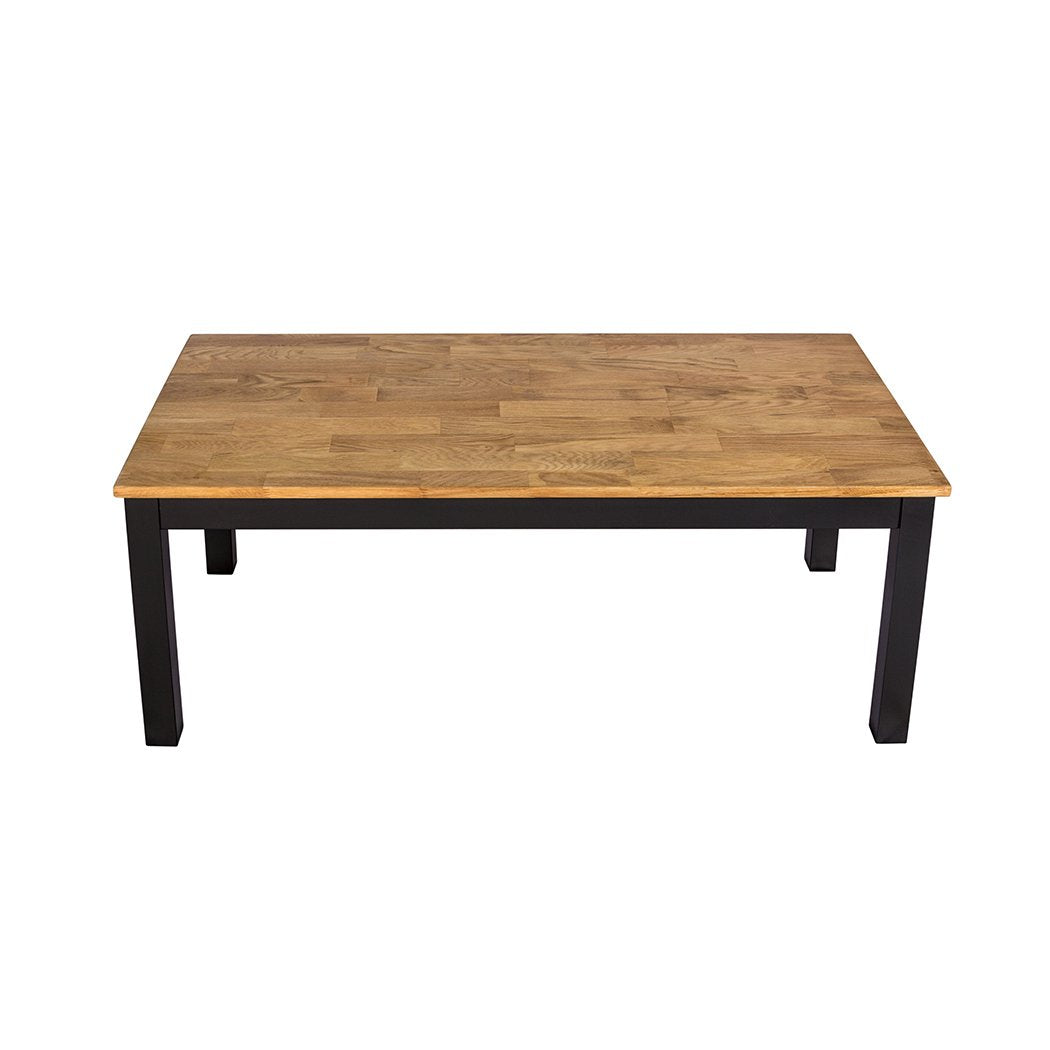 Copenhagen Coffee Table Black Frame-Oiled Wood