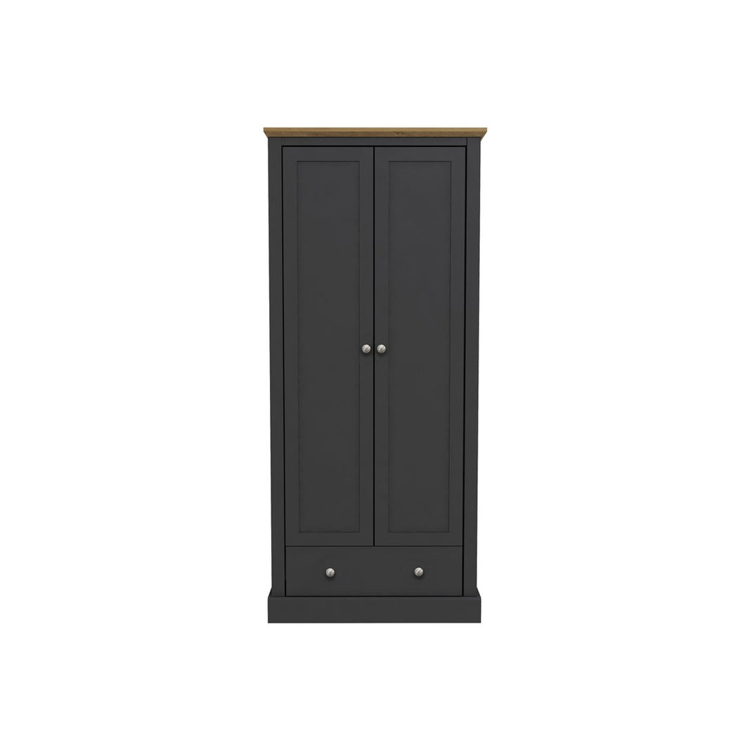 Devon 2 Door Wardrobe Charcoal