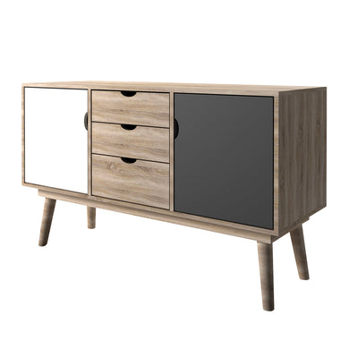 Scandi Oak 2 Door Sideboard Grey