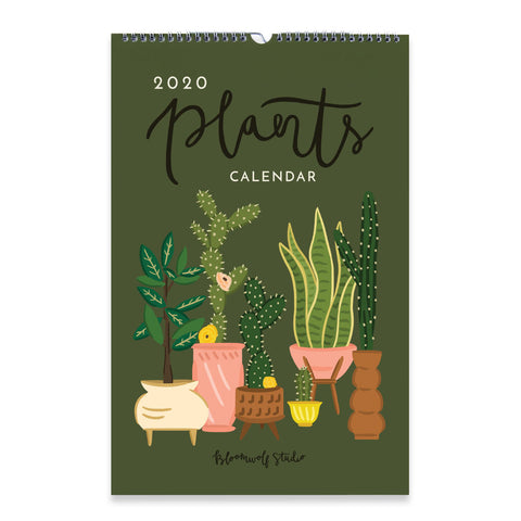Bloomwolf Studio - 2020 Plants Wall Calendar