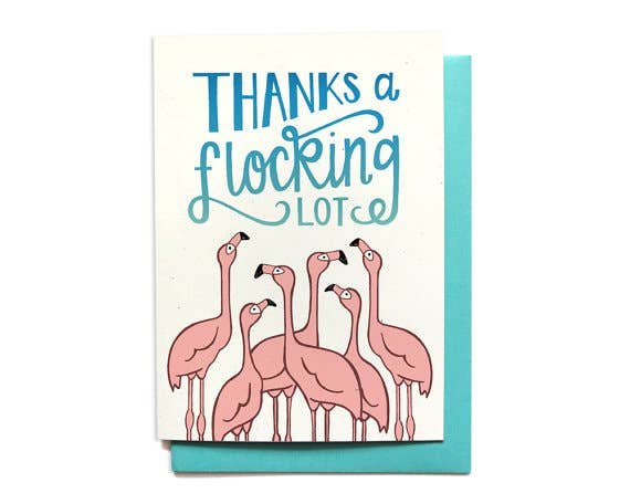 Flocking Thank You Card