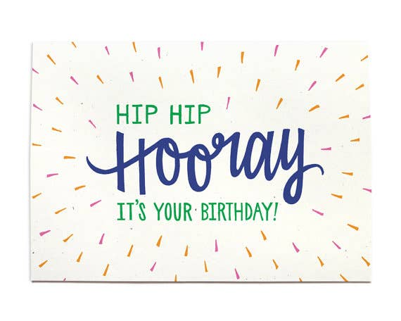 Hip Hip Hooray It's Your Birthday Card
