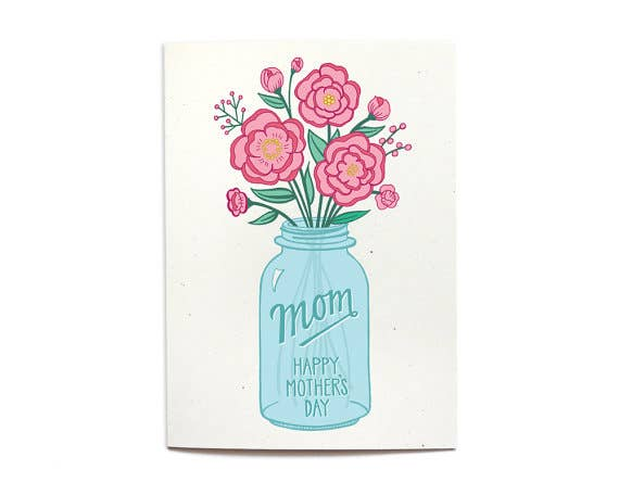 Mother's Day  Mason Jar Card