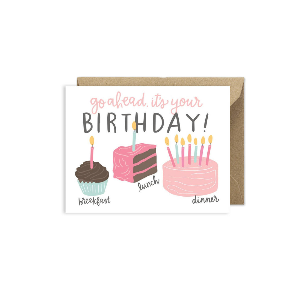 Cake For Breakfast Birthday Card