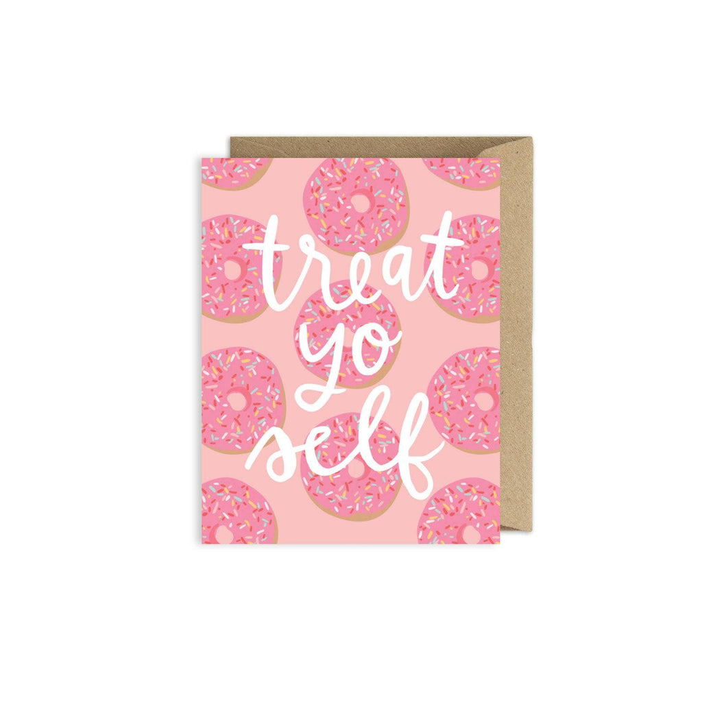 Treat Yo Self Donut Birthday Card