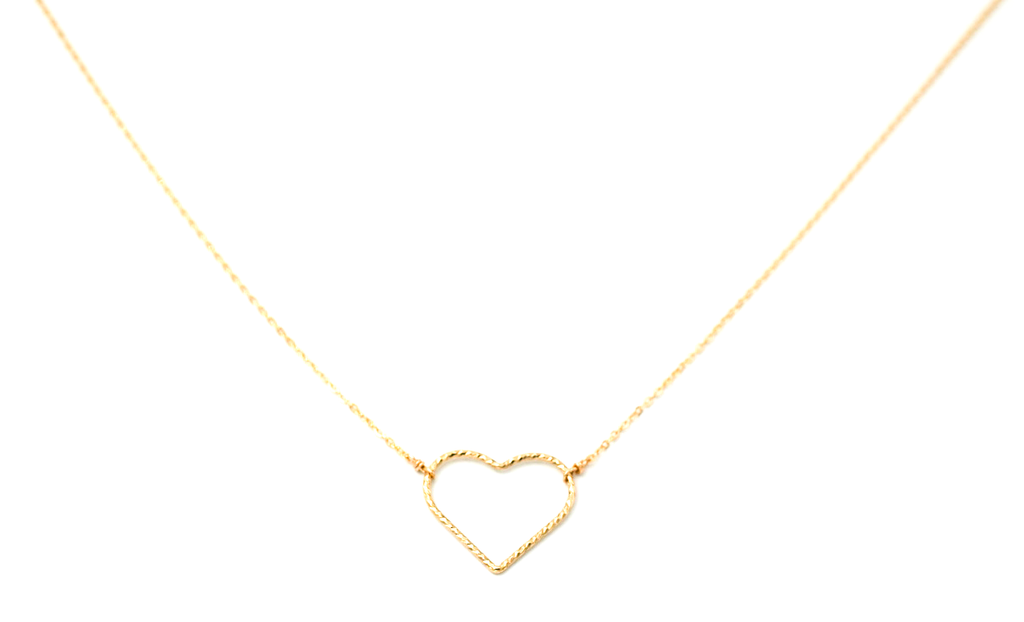 Large Shimmer Heart Necklace