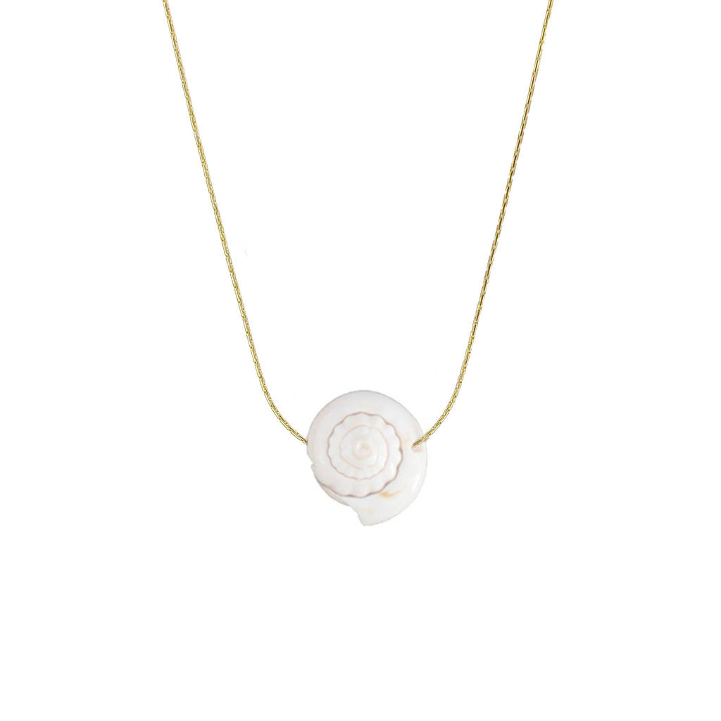Ariel Shell Silver Necklace