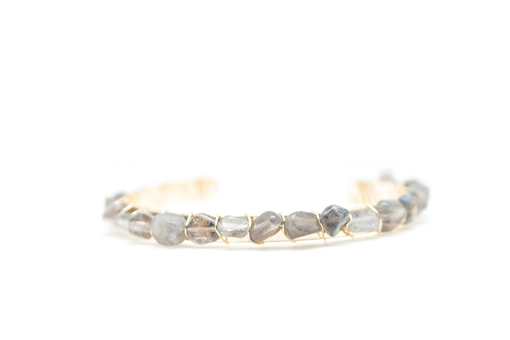 Gemstone Bangle Bracelet