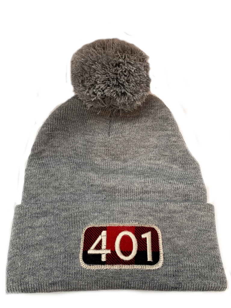 401 Area Code Winter Beanie