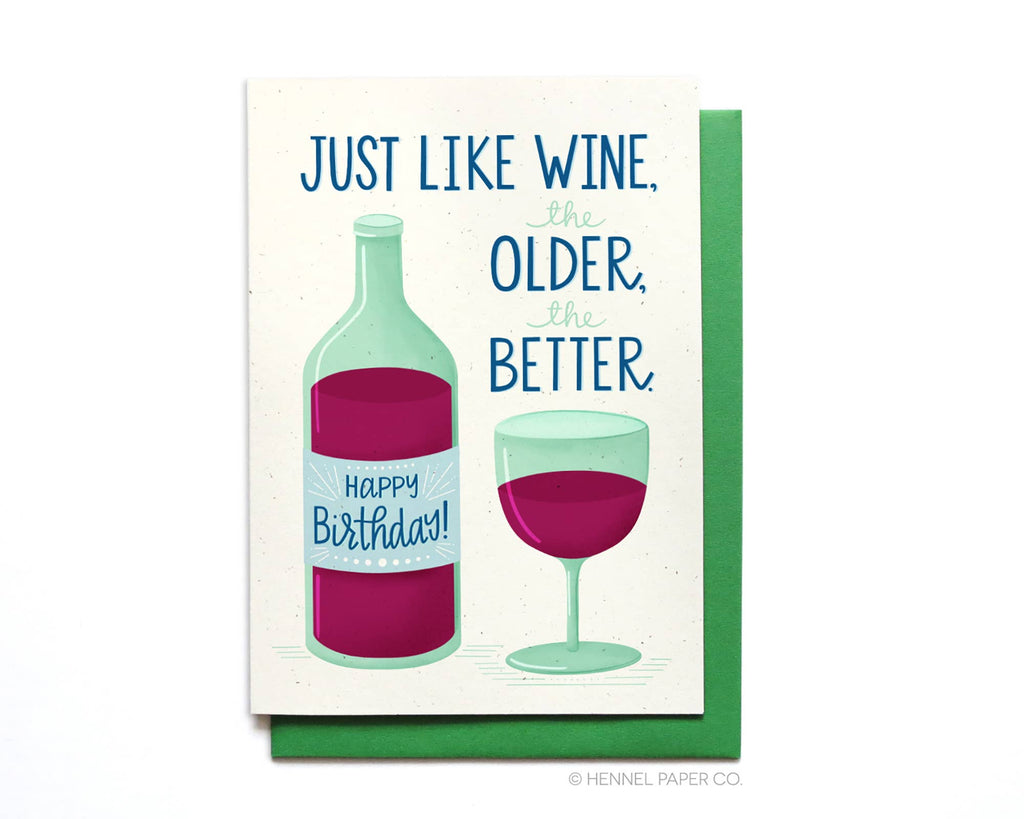 Wine Birthday Card