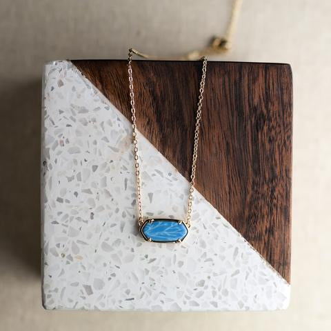 Hexagon Salt Water Taffy Necklace
