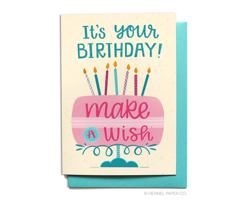Make a Wish Cake Card