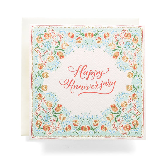 Handkerchief Anniversary Greeting Card Mint