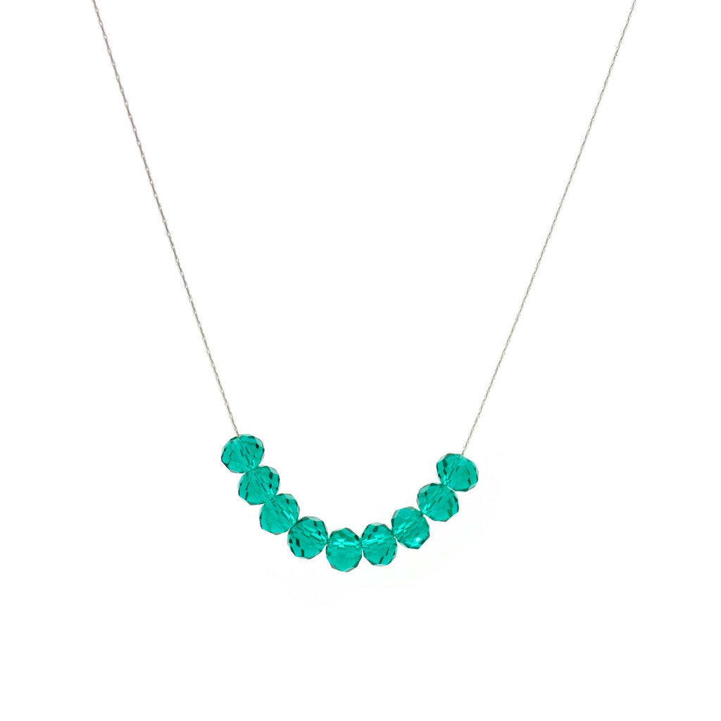 Salty Glims Emerald Necklace