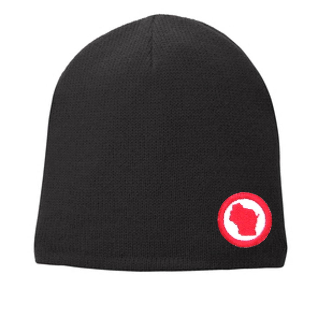 RI Mini Patched Fleece Lined Winter Beanie
