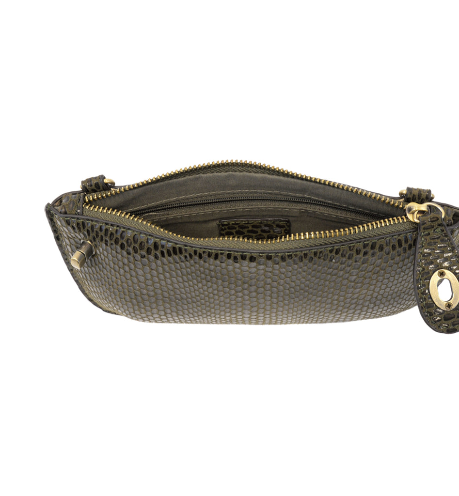 Python Mini Crossbody Wristlet Clutch