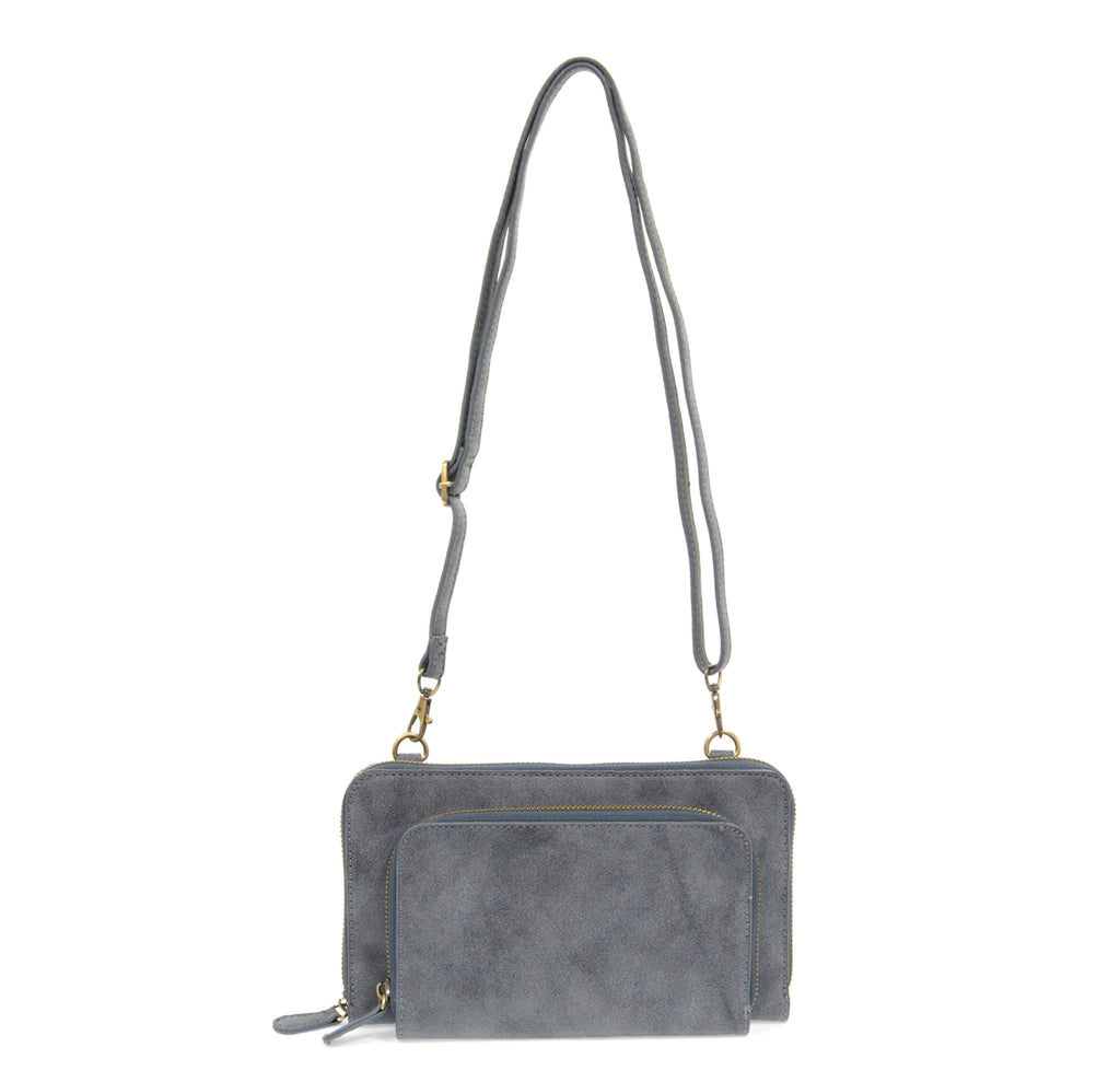 Brushed Mini Convertible Zip Wristlet