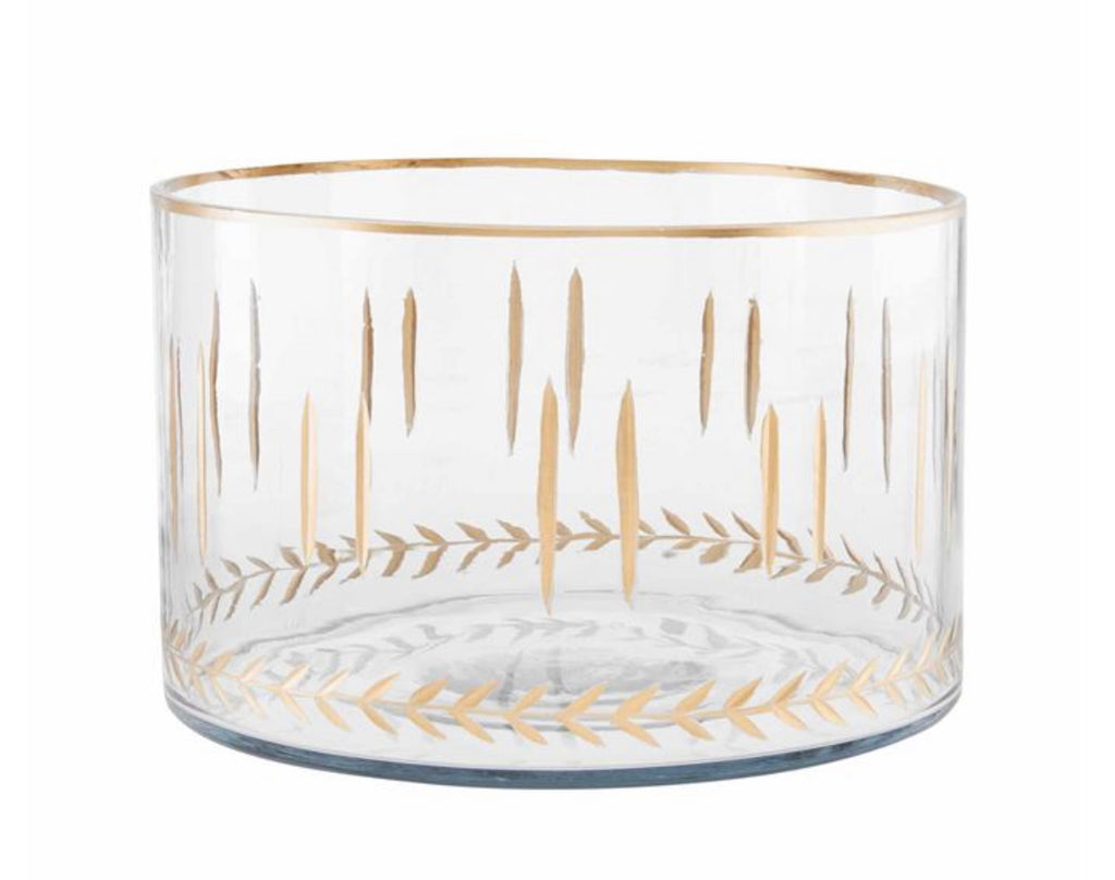 Nested Gold Etched Bowls