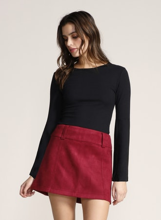 Suede Secret Skirt