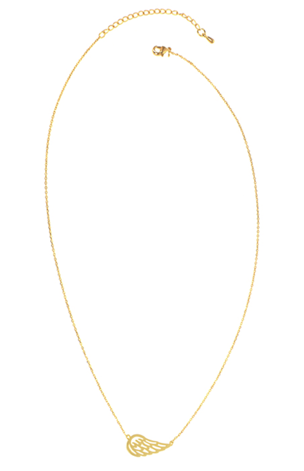 Gold Angel Wing Necklace