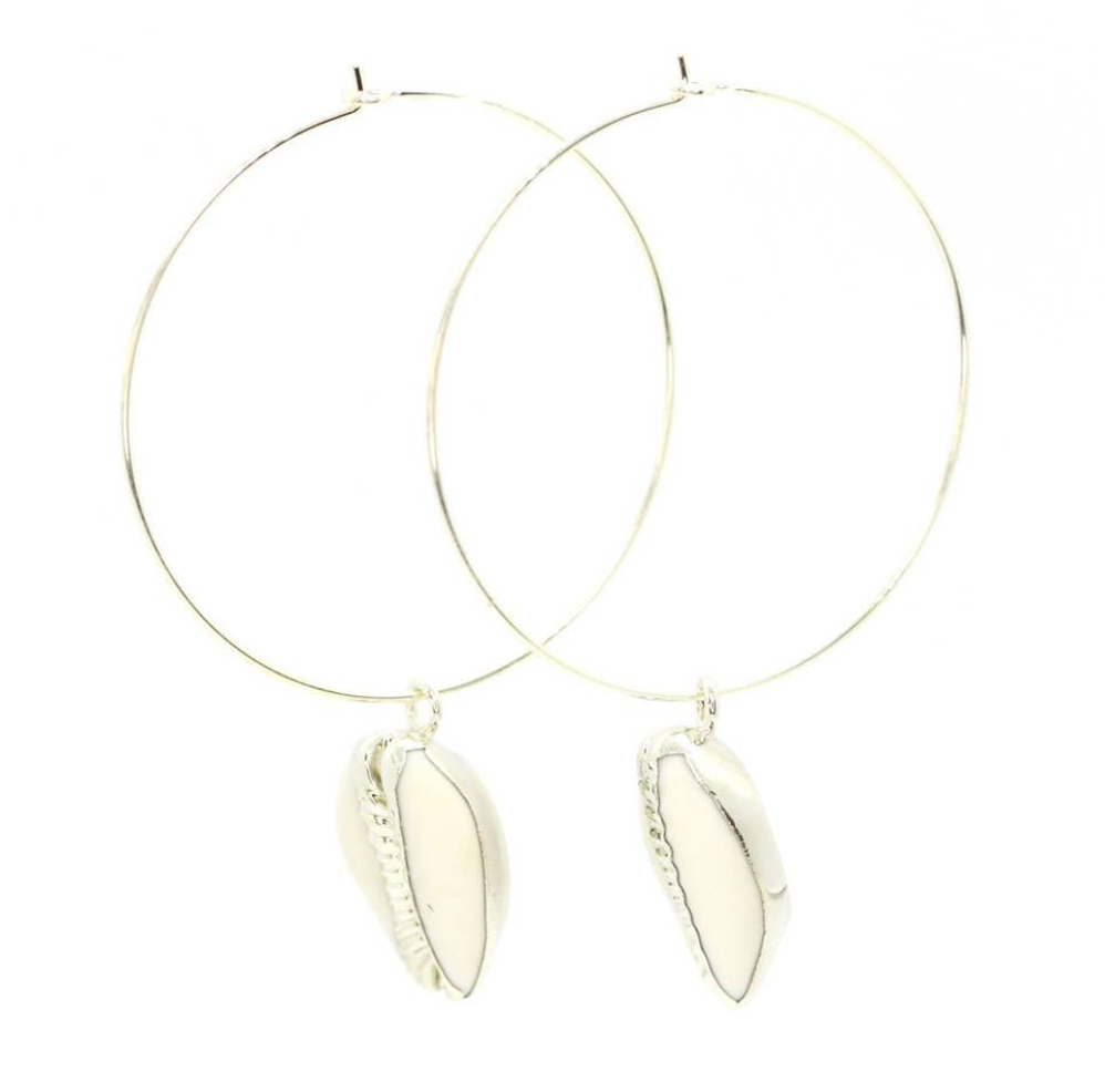 Puka Silver Hoop Earrings