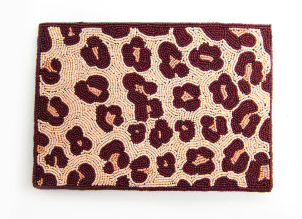 Pink Cheetah Clutch