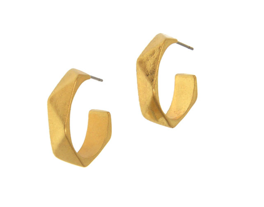 Edgy Hoop Post Earrings