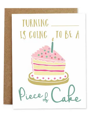 Piece of Cake Greeting Card