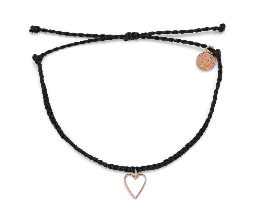 Petite Open Heart Rose Gold Bracelet