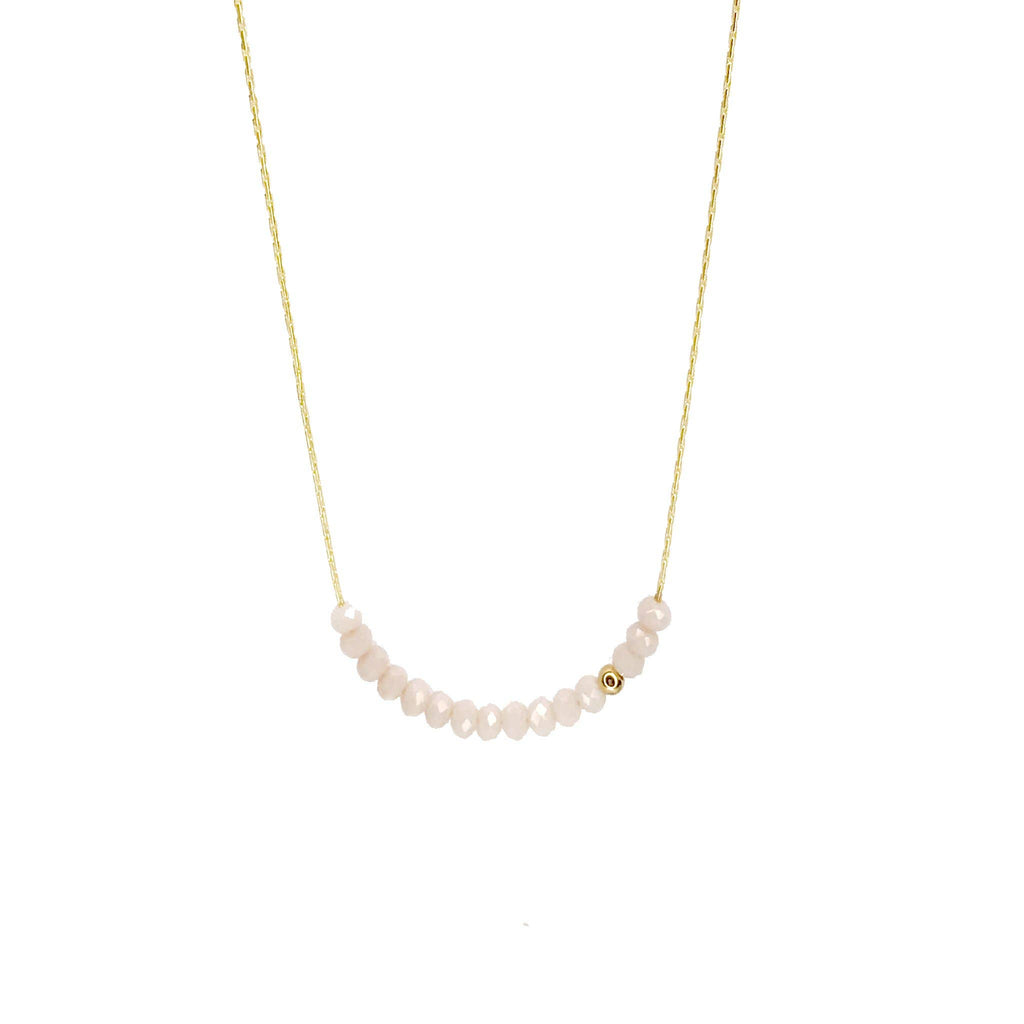 Sprinkle of Peace White Necklace