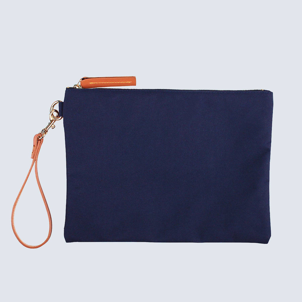 Naomi Navy Nylon Clutch