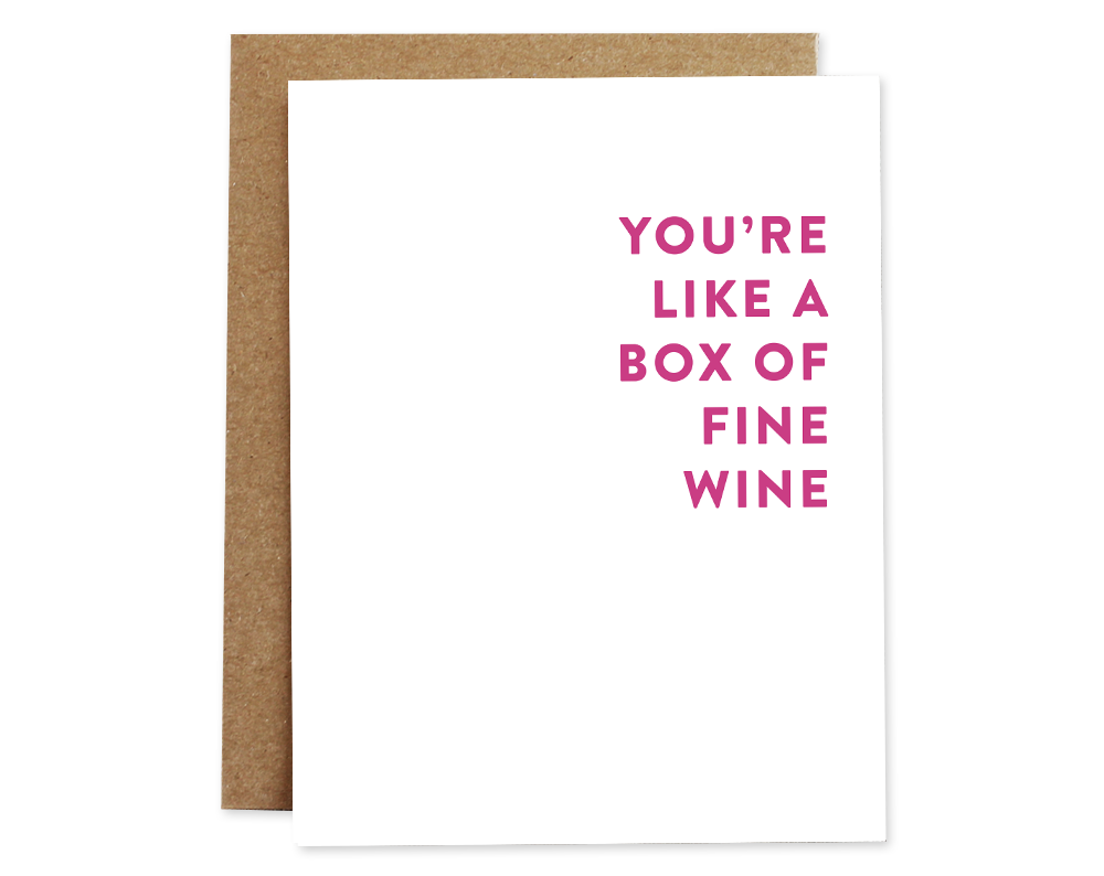 Fine Wine Love Card