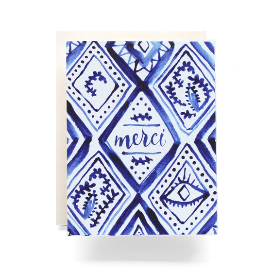 Indigo Merci Greeting Card