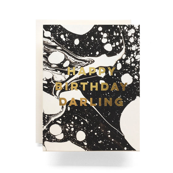 Marble Birthday Darling Greeting Card