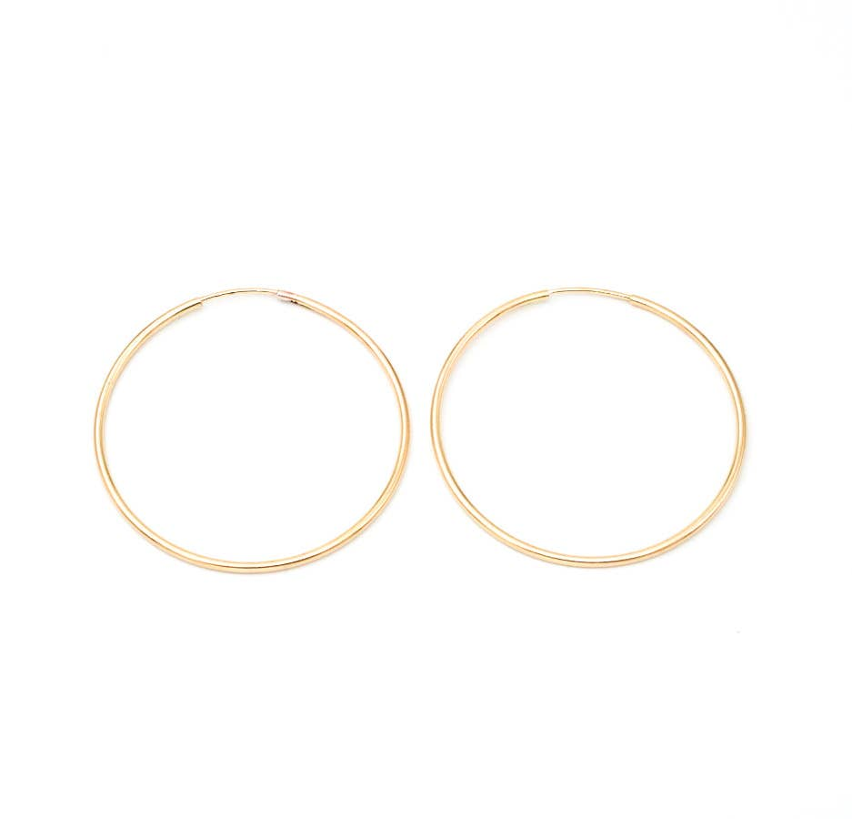 40MM Gold Filled Hoop Earrings